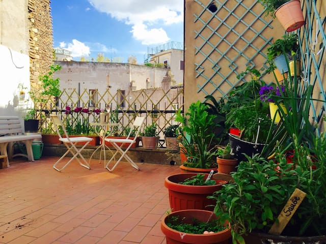 our terraced penthouse in campo de'fiori