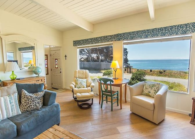 Oceanfront Cambria Home