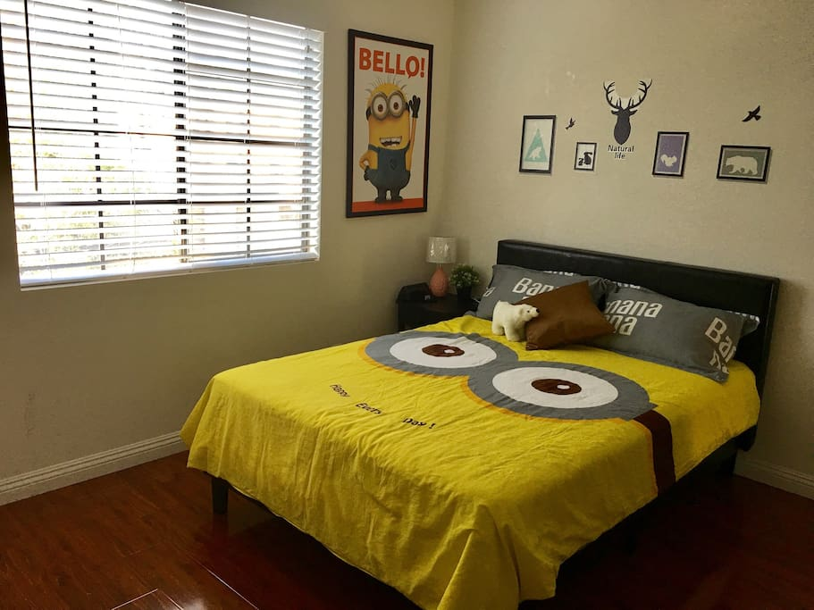 Bedroom, double size bed