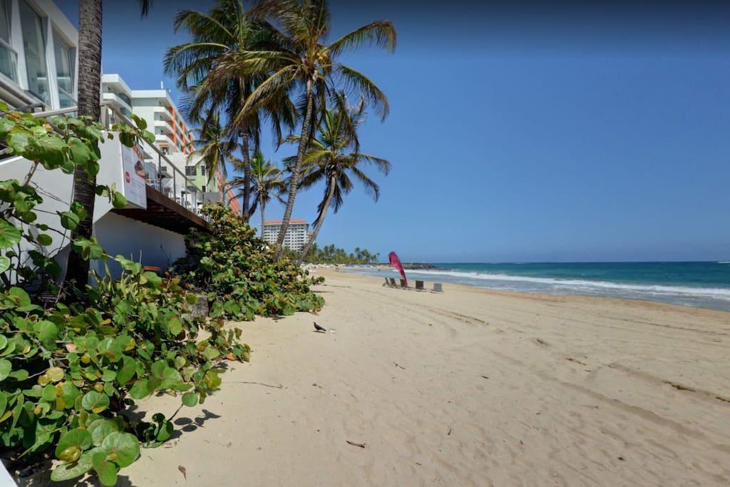 3 blocks away there is Condado beach