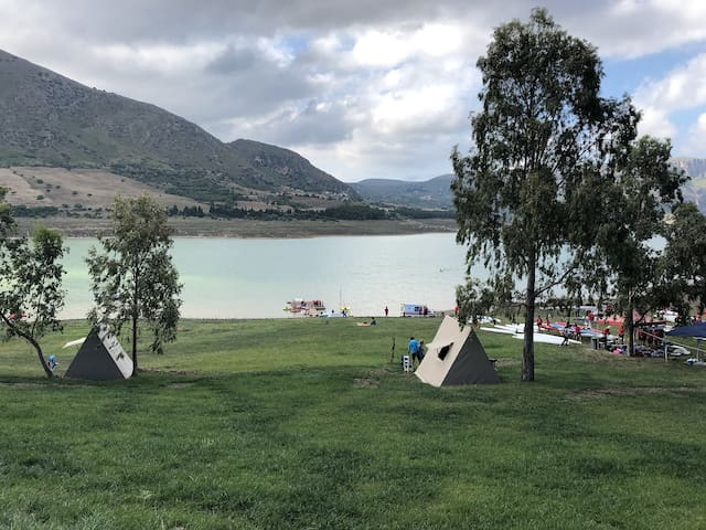 Camping Tent on the Lake Caccamo Sicily #1