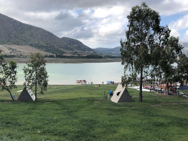 Tenda Campeggio Lago Caccamo Sicilia #5