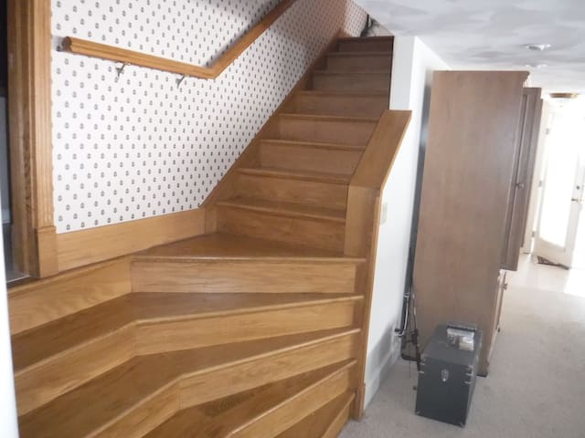 Unique stairs to upper bedrooms