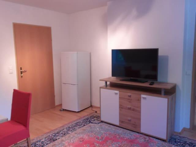 refrigerator, TV