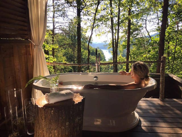 11:  Treetop Soaks, Yoga, and Massage await!! - Bryson City - Bungalow