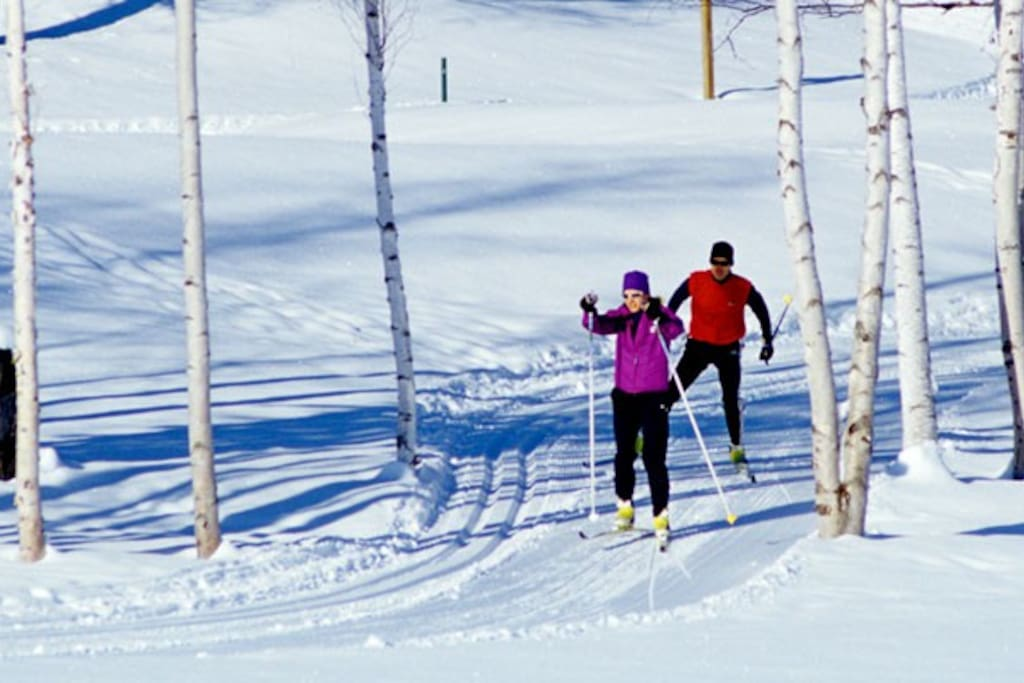 Great cross-country or snowshoeing through the snow covered Golf Course.