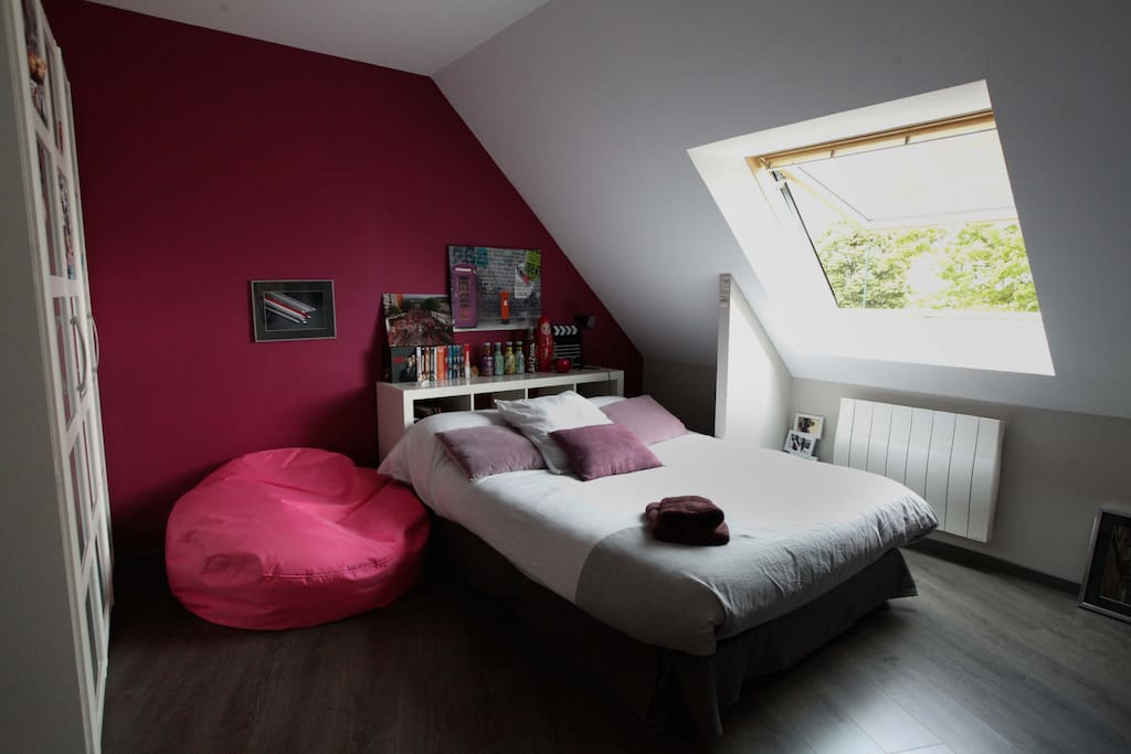Chambre rose - 1 couchage 2 personnes