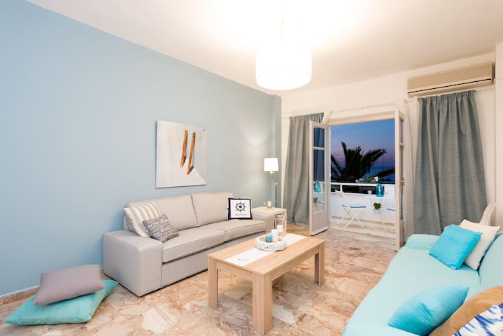 Spacious seaside apartment with wonderful view - Rethymno - Daire