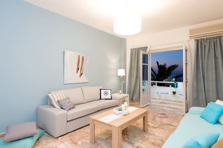 Spacious seaside apartment with wonderful view - Rethymno