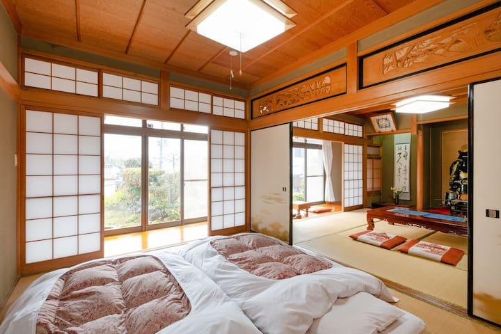 京都嵐山上流 保津川下り トロッコ亀岡駅近く 優雅な伝統建築に滞在  Farmhouse NaNa