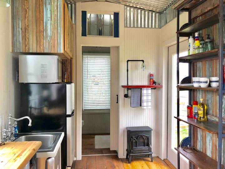 a Tiny House on Cherry Mountain & wide open spaces