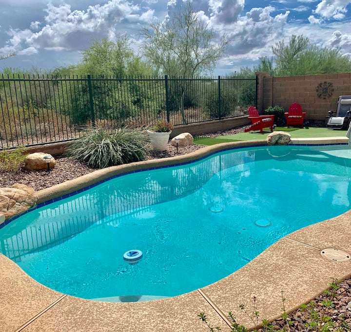 Warm and Cozy with a Heated Pool and Desert View*