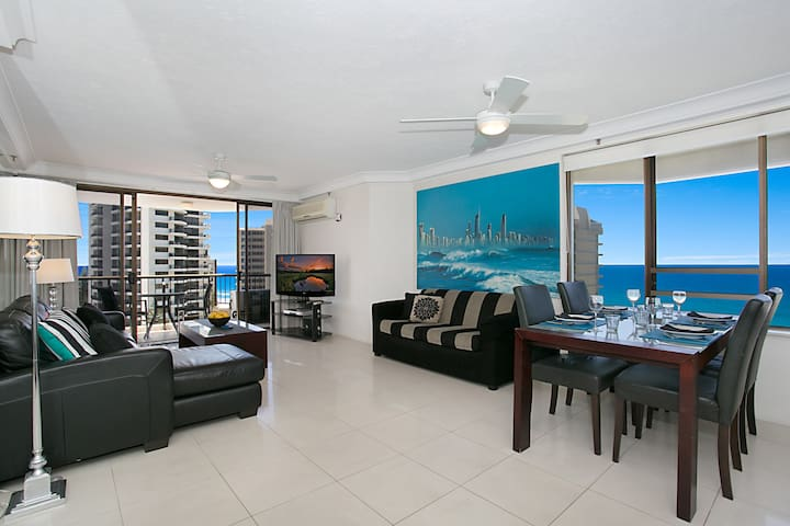 Surfers Century 12th Floor 2 Brm Overlooking Beach - Surfers Paradise - Appartement