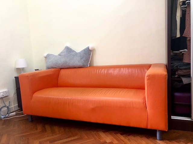 Lovely private room with sofa convenient location