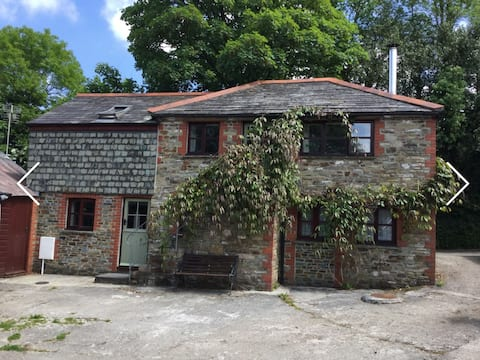 The Barn, a cosy cottage in rural Cornwall.