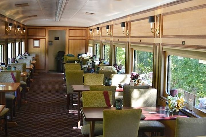 Dining cars available - reservations required.