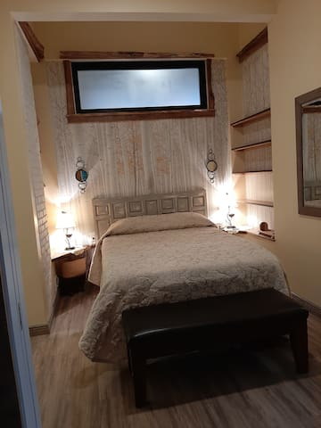 Queen size motion therapy bed and sound machine.