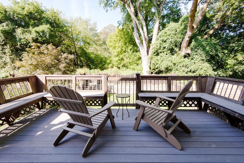 Adirondack chairs for relaxing on the deck