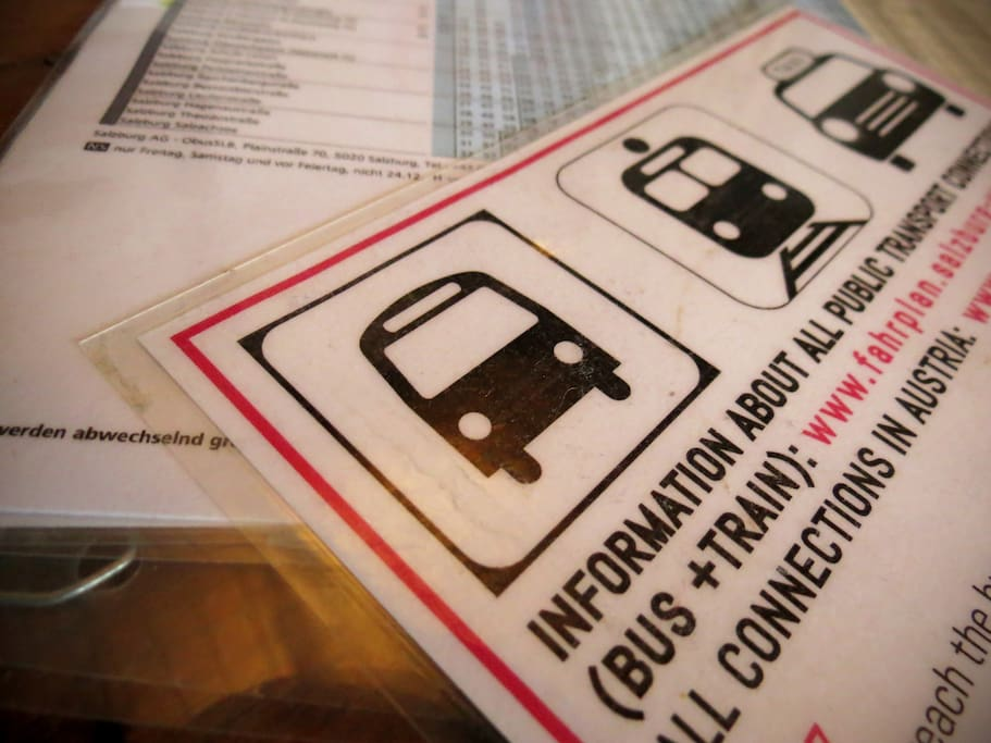 We offer lots of information about public transportation and sightseeing in Salzburg