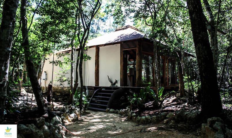 Romantic Cabaña  & Cenote Dos Ojos - Tulum - Houten huisje