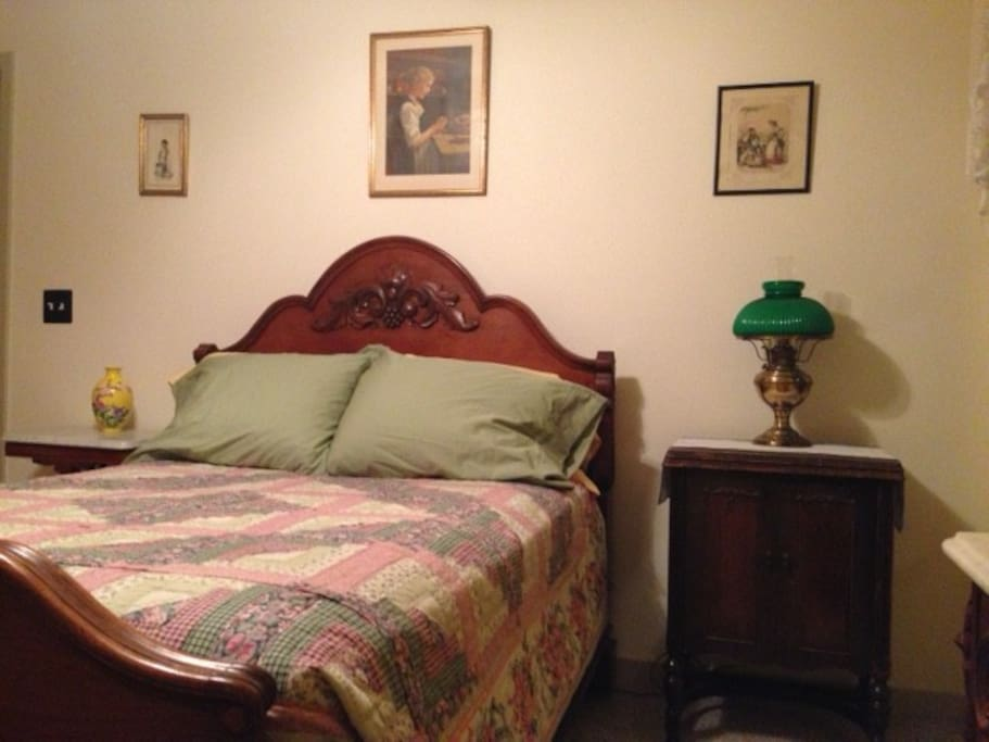 Heirloom antique bed.