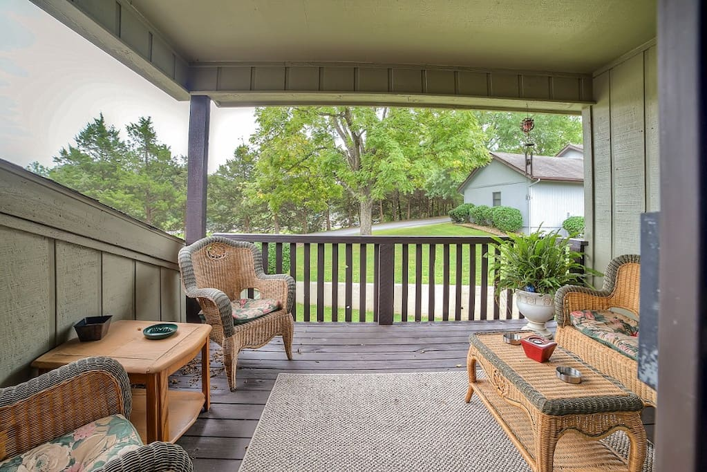 Escape to the private deck off the master bedroom