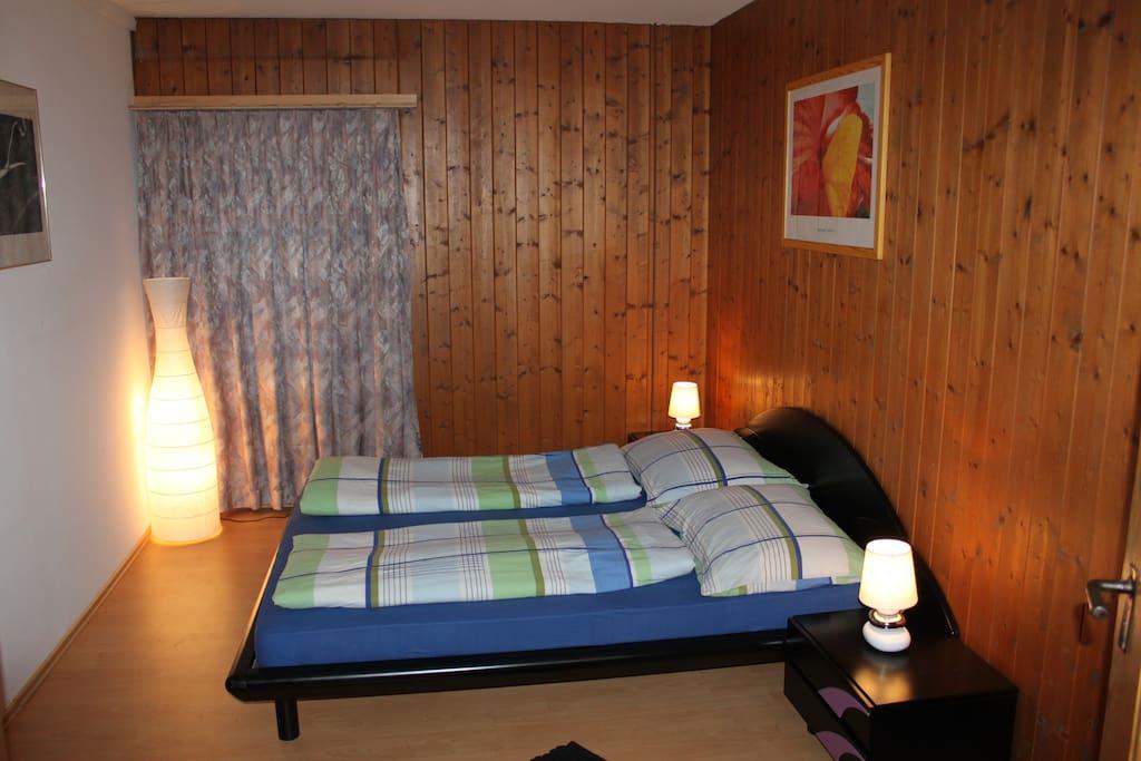 Schlafzimmer 2 bei 4 Gästen
