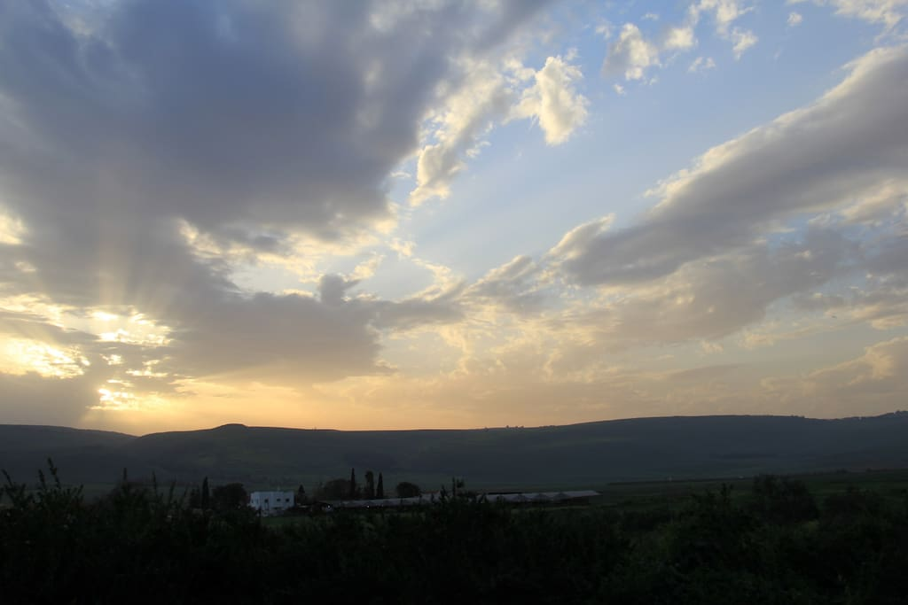 View of the Naftali Mountains