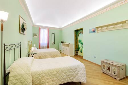 The Green Room matrimoniale più singolo ideale per amici/amiche o famiglia con bambini