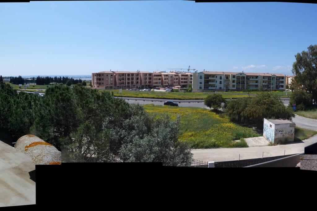 vista dalla terrazza