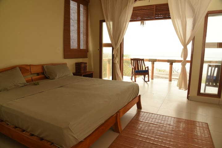 Bedroom with ocean view
