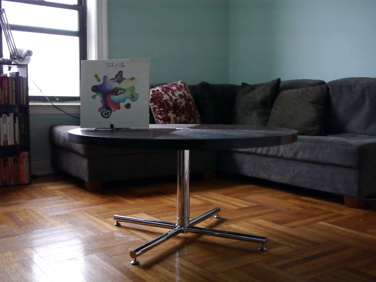 This is my spinning and height adjustable dining table