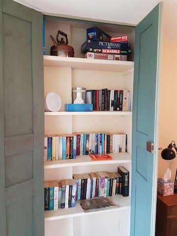 holiday book swap cupboard