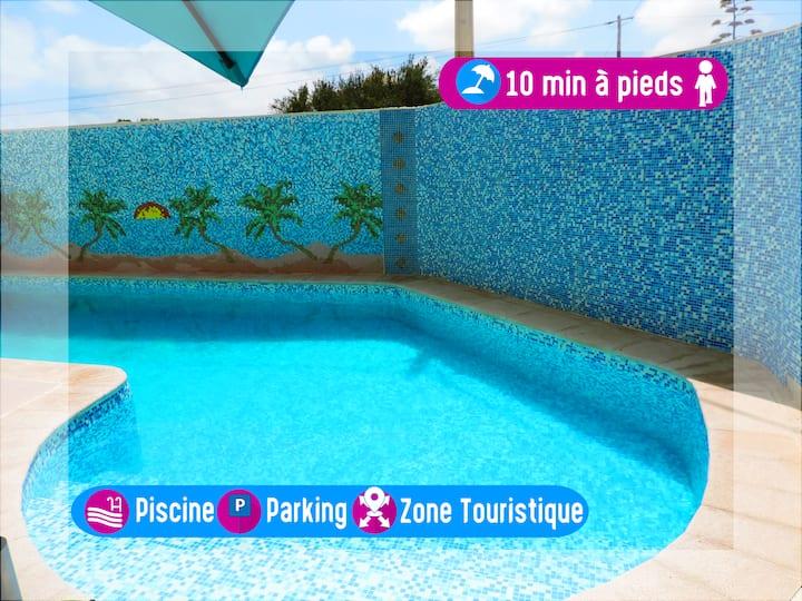 Maison charmante avec piscine en zone touristique