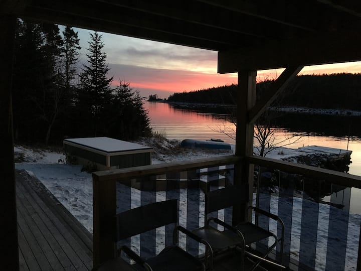 Oceanfront Paradise in Picturesque Shad Bay.