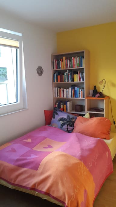 The library guest room. Rest, read, relax...