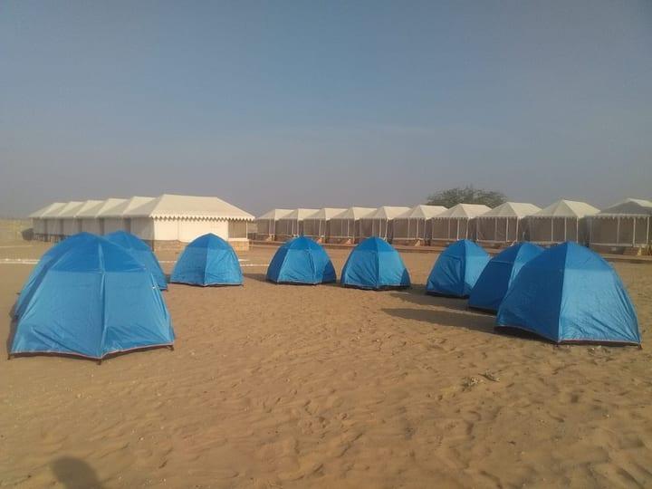 Breathtaking view  Dome Tent at Khuri Desert