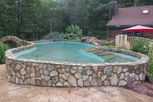 Pool With Granite Floor