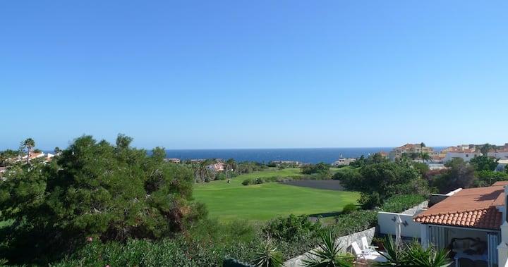 5 Bed Villa Free Wifi 6 Seater Hot Tub & Spectacular Sea, Golf & Mountain views.