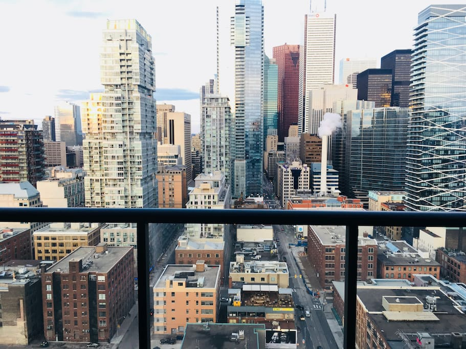 View from balcony, 25th floor downtown Toronto