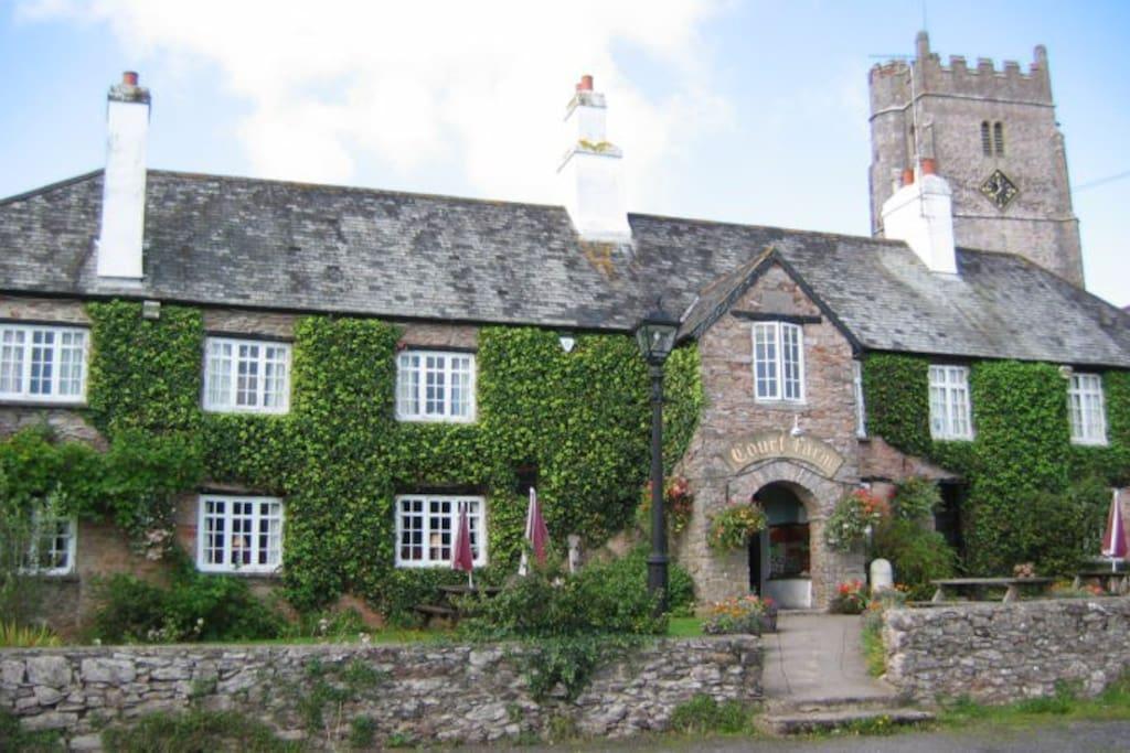 Court Farm Inn & Medieval Church