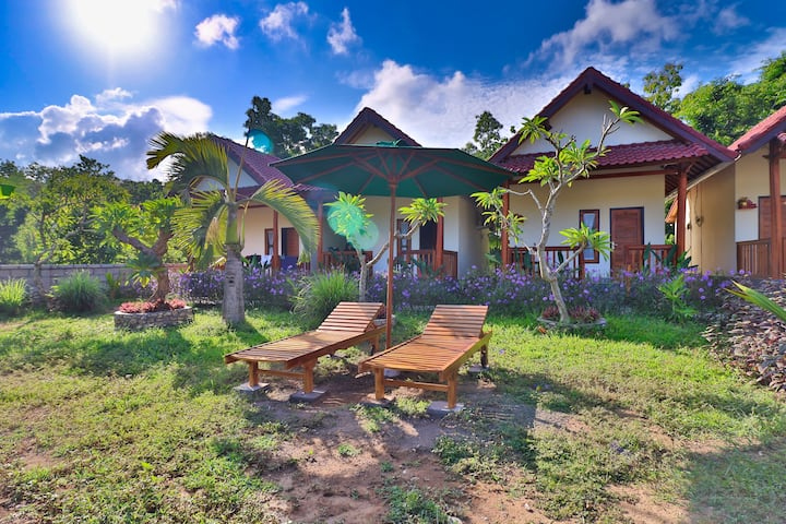 Quit Place among Tropical Garden in Nata Cottages,