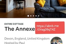 Check out my other airbnb in Devon