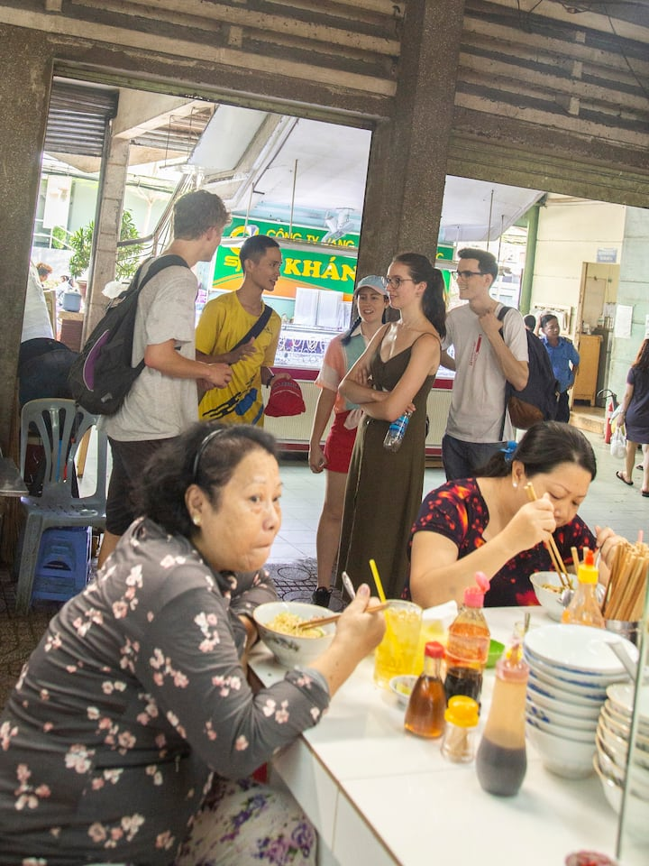 Visit the big market and the food court