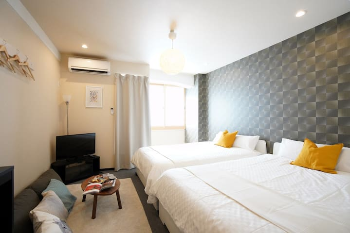 Cozy Apt+10min walk to Downtown Osaka/Umeda#LAOS4