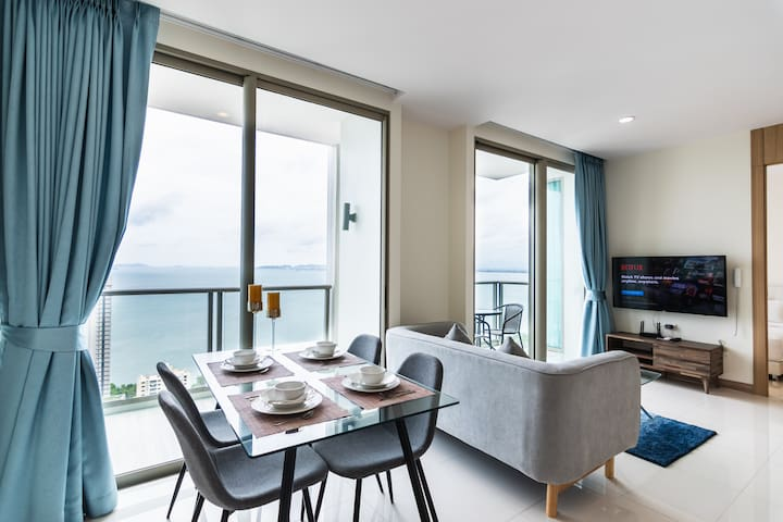 Riviera⭐Large 2BR on 37Fl⭐Direct Sea View⭐Family