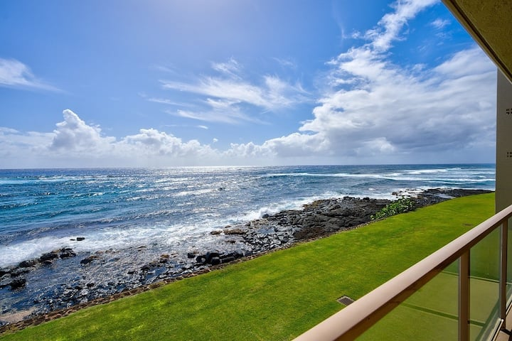 Ocean Front, Kuhio Shores, 30 ft to the water! A/C