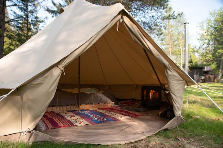 Bell tent at Å Camp