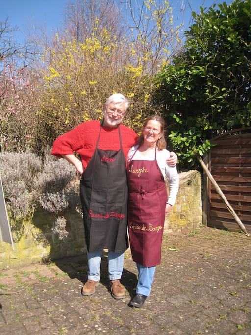 the hosts: Pietro and Marijke