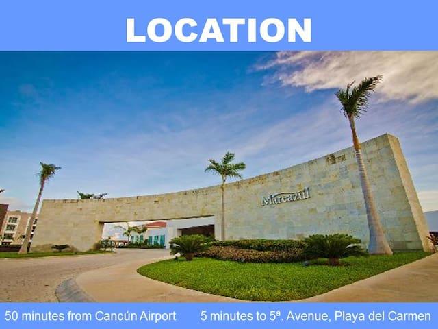 Golf drive, private pool, beach, 2 BDR, 6 guest!! - Playa del Carmen - Appartement